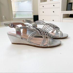 Forever Silver Wedge Sandal
